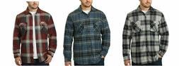 Freedom Foundry Men's Super Plush Plaid Jacket Shirt Fleece