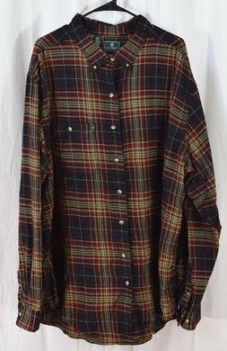 G.H. Bass & Co. Fireside Flannels Long Sleeve Button Down An