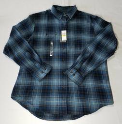G.h. Bass & Co. Fireside Plaid Flannel Shirt  Navy Bluewing