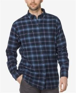 G.h. Bass & Co. Fireside Plaid Flannel Shirt Blue Salute Men
