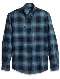 G.h. Bass & Co. Fireside Plaid Flannel Shirt Blue Wing Teal