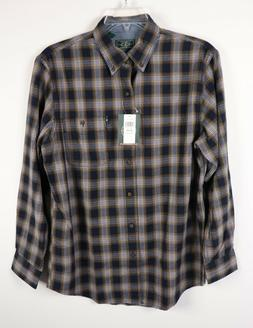 G. H. BASS & CO. MEN'S FIRESIDE FLANNEL SHIRT Night Sky M