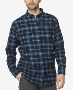 G.H. Bass & Co. Men's Flannel Plaid Button-Down Shirt, XL, B