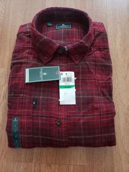 G.H. Bass & Co. Men's Fireside Flannel Shirt Button Down Red