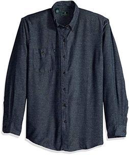 G.H. Bass & Co. Men's Jaspe Flannel Long Sleeve Shirt, Night