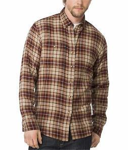 G.H. Bass & Co. Men's Fireside Plaid Flannel Shirt, Oyster G