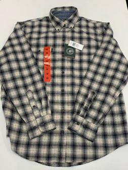 G. H. BASS & CO. Men's Flannel Shirt Bone White/Black Plaid