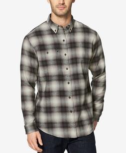 G.H. Bass & Co. Men's Fireside Flannel Shirt Asphalt Dark Gr
