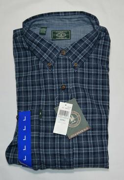 G.H. Bass & Co Men's Fireside Flannel L/S Button Up Shirt Si