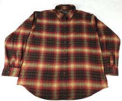 G.H Bass & Co Men Shirt Size 2XL Button Down Plaid Fireside