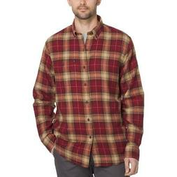 G.H Men/'s Flannel Plaid Work L//S Shirt Castle Rock Bass /& Co