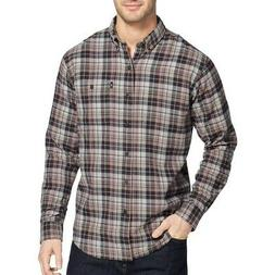G.H. BASS & CO. NEW Men's Fireside Flannel Plaid Button-Fron