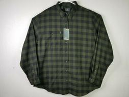 G.H.Bass & Co. NWT Men's Plaid Flannel Long sleeve Shirt Siz