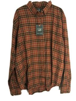 G.H. Bass Co. Mens Fireside Flannel Button-Down Shirt Top XL