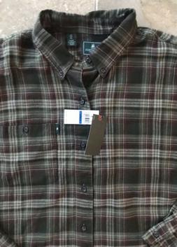 GH Bass Co Plaid Flannel Shirt Green Mens XL