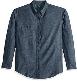 GH Bass Men's Big and Tall Jaspe Flannel Long Sleeve Shirt,