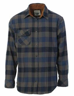Gioberti Men's 100% Cotton Brushed Flannel Plaid Checkered S