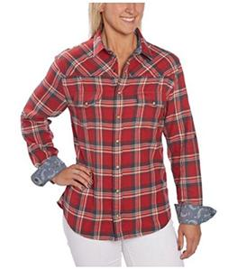 Jachs Girlfriend Ladies Flannel Shirt Red Small