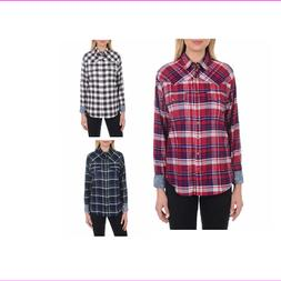 Jachs Girlfriend  Girl's Flannel Shirts