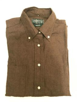 Gitman Brothers Vintage Olive Flannel L/S Shirt - MADE IN US