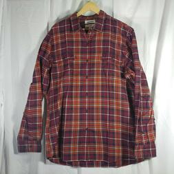Goodthreads Men's Slim-Fit Long-Sleeve flannel Shirt,burgund