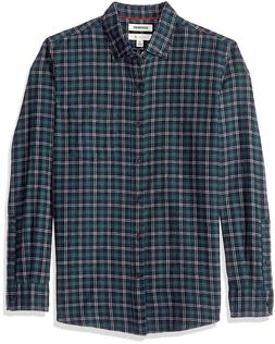 Goodthreads Men's Slim-fit Long-Sleeve Plaid Brushed Heather