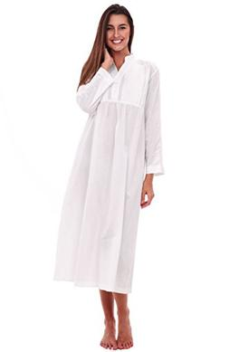 Alexander Del Rossa Womens Guinevere Cotton Nightgown, Long