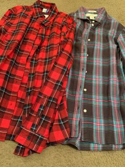 H&M Men's Button Down Shirt Lot 2 Shirts Size Small Flannel