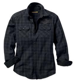 Harley-Davidson Women's Applique Plaid Flannel Relaxed Fit S