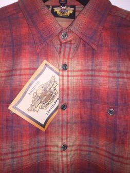 Harley-Davidson Women's Plaid Flannel Shirt XS Button up 961