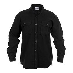 Rothco Heavy Weight Flannel Shirt, Black, X-Large