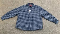 Wrangler Heavyweight Lined Flannel Shirt Jacket NWT 2XL Blue