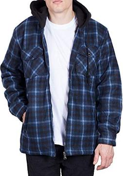 Walnut Creek Hoodie Flannel Fleece Jacket for Men Zip Up Big