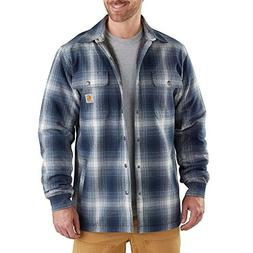 Carhartt Men's Hubbard Flannel Plaid Sherpa Lined Shirt Jac,