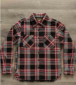 Iron Heart IHSH-238-BLK Ultra Heavy Flannel Work Shirt Blk C