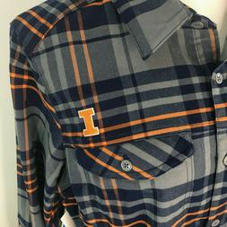 Illini Flannel Women's Shirt Columbia Extra Large University