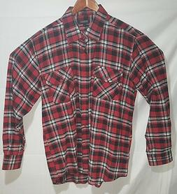 flannel shirt italy plaid l nwot