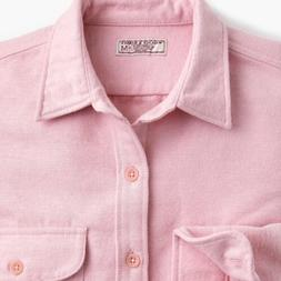J. Crew Chamois Heavyweight Flannel Shirt XS Pink NWT
