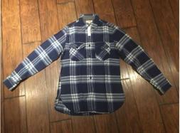 J. Crew Men's Wallace & Barnes Heavy Weight Flannel Shirt Re