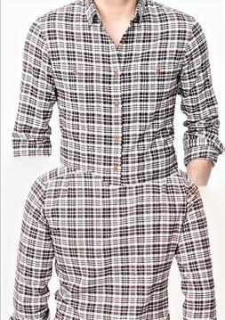 J Crew Mercantile Men's Heather Flannel 2 Pockets Long Sleev