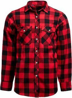J.VER Men's Flannel Plaid Shirts Long Sleeve Regular Fit But