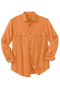 KingSize Men's Big & Tall Size XL Double-Brushed Flannel Shi