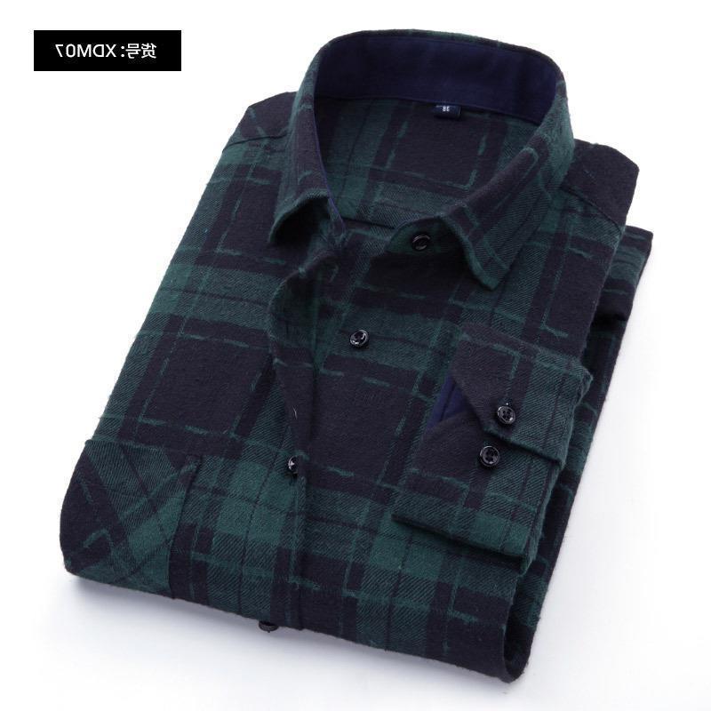 100% <font><b>Flannel</b></font> Plaid <font><b>Shirt</b></font> Fit Spring Autumn Casual <font><b>Shirts</b></font> Soft Comfortable