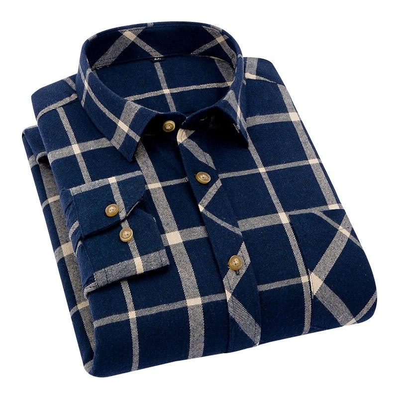 DAVYDAISY New Men Fashion <font><b>Flannel</b></font> Clothes <font><b>Work</b></font> camisa DS181