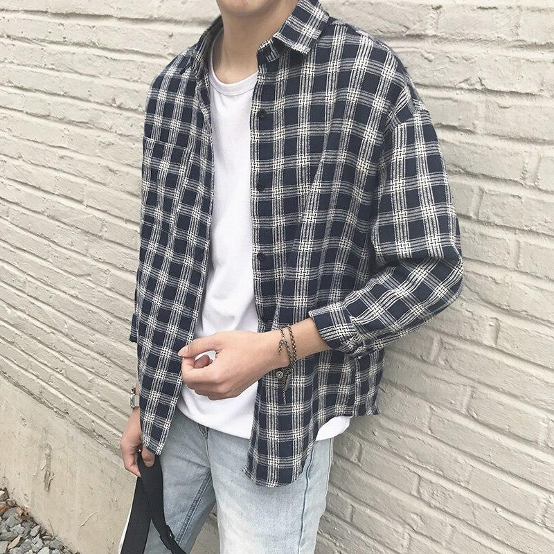 2019 New Style Clothe Spring Autumn Fit <font><b>Men</b></font> <font><b>Shirt</b></font> Long
