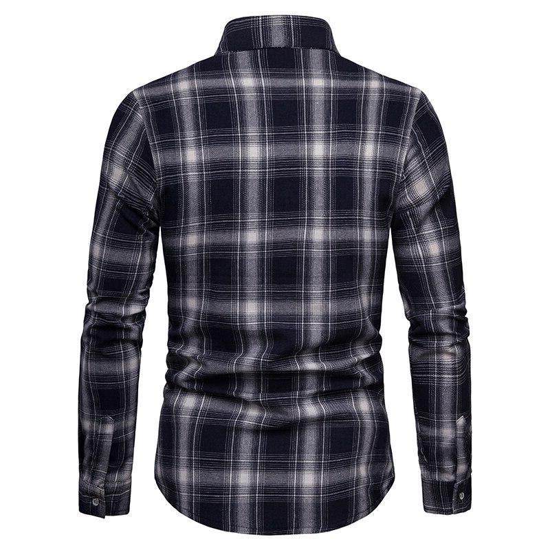 2019 casual <font><b>men's</b></font> <font><b>shirt</b></font> casual lattice breathable