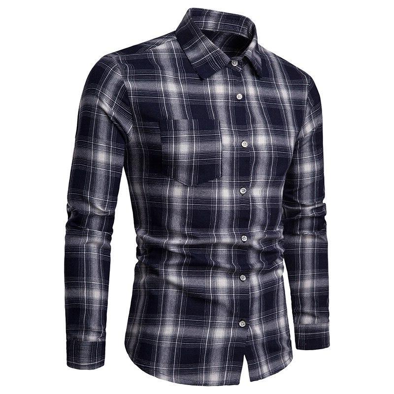 2019 summer brand <font><b>men's</b></font> <font><b>men's</b></font> long sleeve casual lattice and breathable <font><b>men's</b></font> clothing