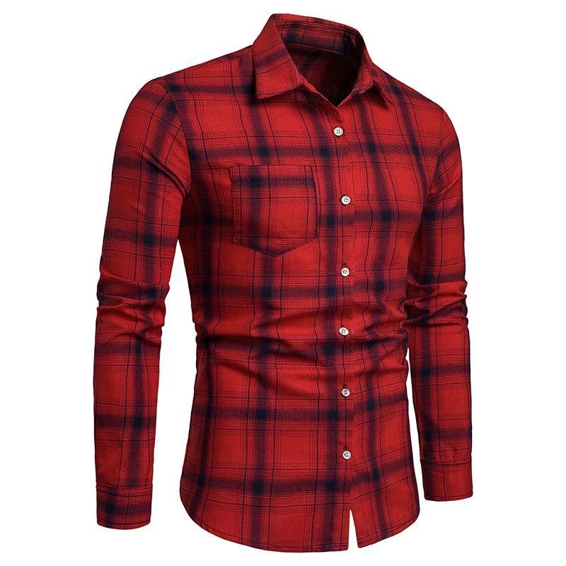 2019 brand casual <font><b>shirt</b></font> <font><b>men's</b></font> casual lattice soft breathable outdoor clothing