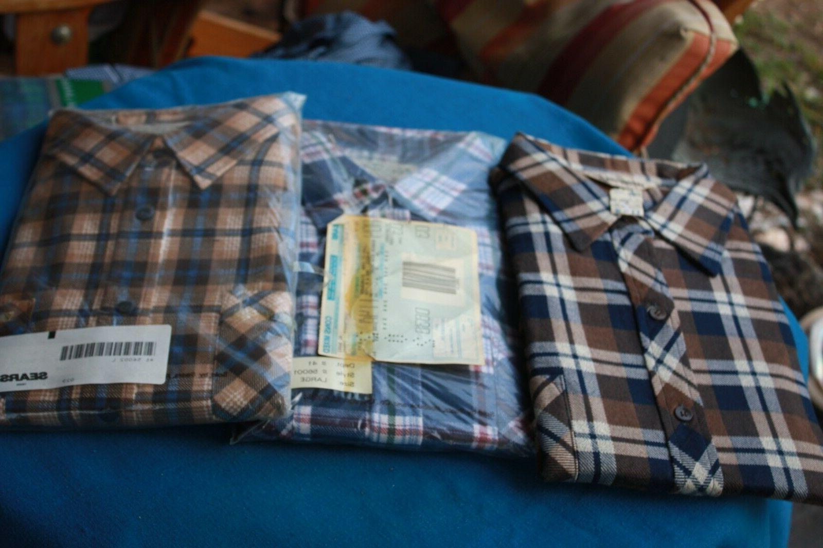 3 vintage new flannel shirts men s