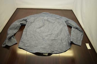 33721 New Izod Saltwater Relaxed Slim Blue Sleeve Shirt XL